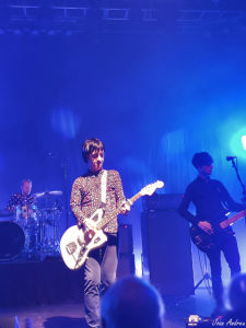 Johnny Marr with Jack Mitchell (drums) and Iwan Gronow (bass)